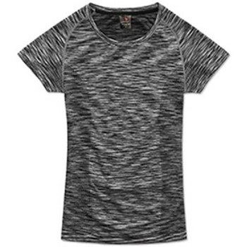 textil Mujer Camisetas manga corta Stedman Seamless Negro Ópalo Jaspeado
