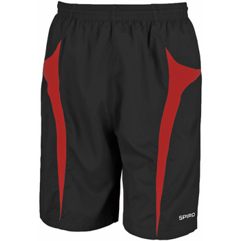 textil Hombre Shorts / Bermudas Spiro S184X Negro/Rojo