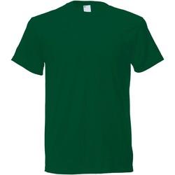 textil Hombre Camisetas manga corta Universal Textiles 61082 Verde Oscuro