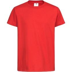 textil Niños Camisetas manga corta Stedman  Rojo escarlata
