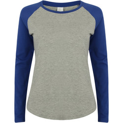 textil Mujer Camisetas manga larga Skinni Fit SK271 Gris/azul