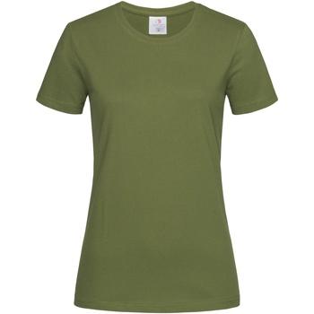 textil Mujer Camisetas manga corta Stedman  Verde Cazador
