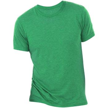 textil Hombre Camisetas manga corta Bella + Canvas CA3413 Verde Jaspeado