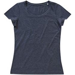 textil Mujer Camisetas manga corta Stedman Stars Lisa Gis Carbón Jaspeado