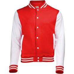 textil cazadoras Awdis JH043 Rojo fuego/Blanco