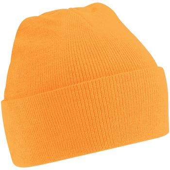 Accesorios textil Hombre Gorro Beechfield Soft Feel Naranja fluorescente