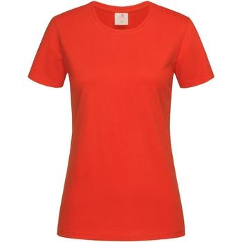 textil Mujer Camisetas manga corta Stedman  Naranja Brillante