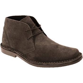 Zapatos Hombre Botas de caña baja Roamers Desert Marrón oscuro