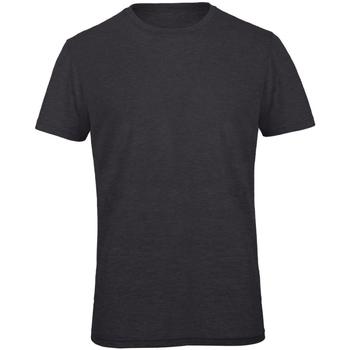 textil Hombre Camisetas manga corta B And C TM055 Gris oscuro jaspeado