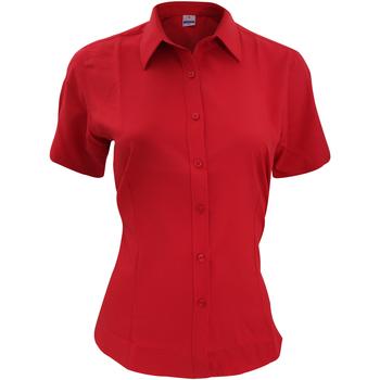 textil Hombre Camisas manga corta Henbury HB596 Rojo