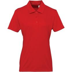 textil Mujer Polos manga corta Tridri TR022 Rojo intenso