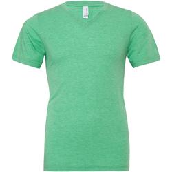 textil Hombre Camisetas manga corta Bella + Canvas CA3415 Verde jaspeado