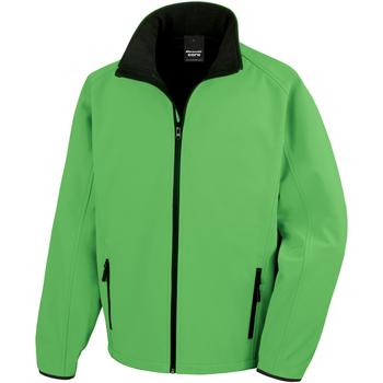 textil Hombre Polaire Result R231M Verde Brillante/Negro