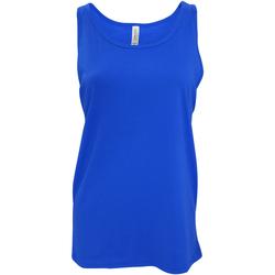 textil Mujer Camisetas sin mangas Bella + Canvas CA3480 Azul eléctrico