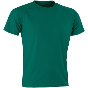 textil Camisetas manga corta Spiro Aircool Verde botella