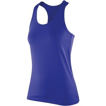 textil Mujer Camisetas sin mangas Spiro S281F Zafiro
