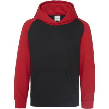 textil Niños Sudaderas Awdis JH09J Negro/rojo