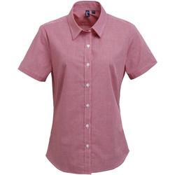 textil Mujer Camisas Premier PR321 Rojo/Blanco