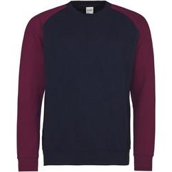 textil Hombre Sudaderas Awdis JH033 Marino oxford / Burdeos