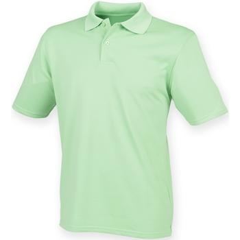 textil Hombre Polos manga corta Henbury HB475 Verde lima