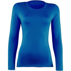textil Mujer Camisetas manga larga Rhino  Azul