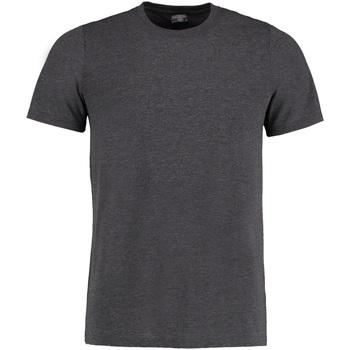 textil Hombre Camisetas manga corta Kustom Kit KK504 Gris Oscuro Jaspeado