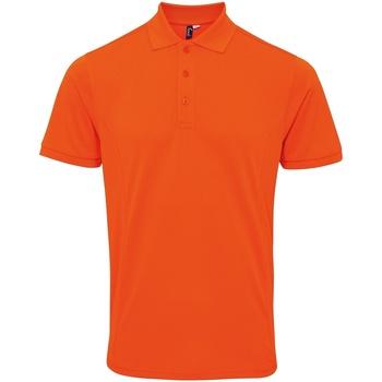 textil Hombre Polos manga corta Premier PR630 Naranja
