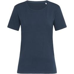 textil Mujer Camisetas manga corta Stedman  Azul Marino