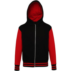 textil Niños Sudaderas Awdis JH51J Negro/rojo