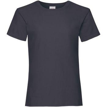 textil Niña Camisetas manga corta Fruit Of The Loom Valueweight Azul oscuro