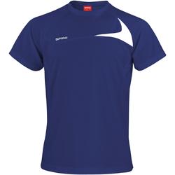 textil Hombre Camisetas manga corta Spiro S182M Azul marino/ Blanco