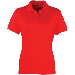 textil Mujer Polos manga corta Premier PR616 Rojo chillón