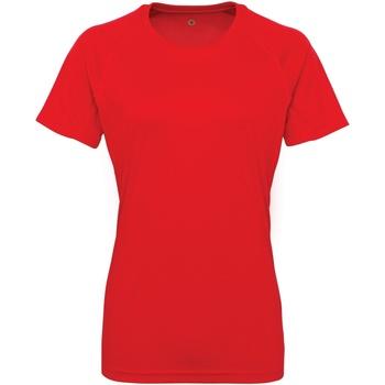 textil Mujer Camisetas manga corta Tridri Panelled Rojo intenso
