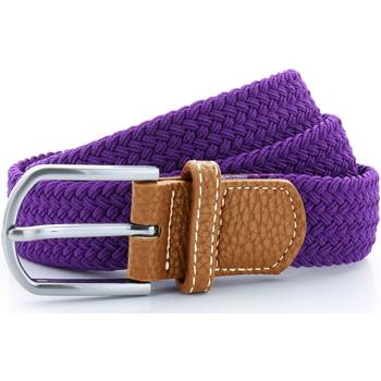 Accesorios textil Hombre Cinturones Asquith & Fox AQ900 Púrpura