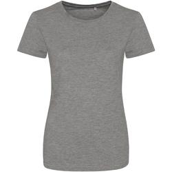 textil Mujer Camisetas manga corta Awdis JT01F Gris Jaspeado