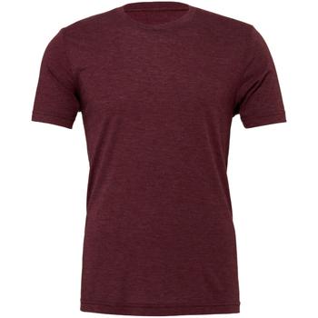 textil Hombre Camisetas manga corta Bella + Canvas CA3413 Granate Jaspeado