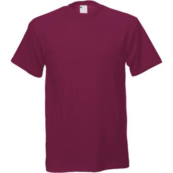 textil Hombre Camisetas manga corta Universal Textiles 61082 Rojo Sangre