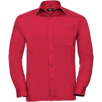textil Hombre Camisas manga larga Russell 934M Rojo