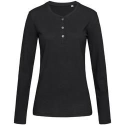 textil Mujer Camisetas manga larga Stedman Stars  Negro ópalo