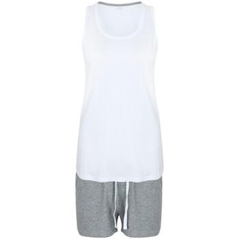 textil Mujer Pijama Towel City TC052 Blanco/gris