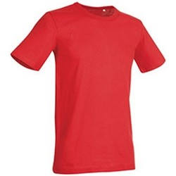 textil Hombre Camisetas manga corta Stedman Stars Morgan Rojo pasión