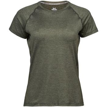 textil Mujer Camisetas manga corta Tee Jays Cool Dry Oliva mezcla