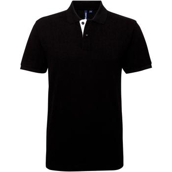 textil Hombre Polos manga corta Asquith & Fox AQ012 Negro/blanco