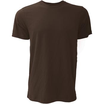 textil Hombre Camisetas manga corta Bella + Canvas CA3001 Marrón