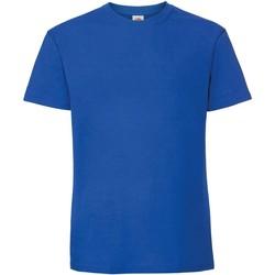 textil Hombre Camisetas manga corta Fruit Of The Loom 61422 Azul