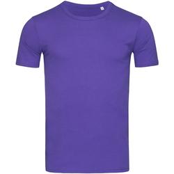textil Hombre Camisetas manga corta Stedman Stars Morgan Lila Profundo