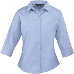 textil Mujer Camisas Premier Poplin Azul medio