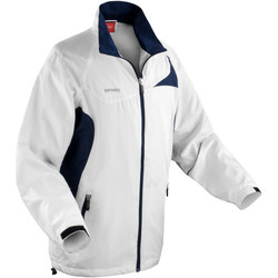textil Hombre Cortaviento Spiro S180X Blanco/Azul marino