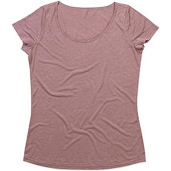 textil Mujer Camisetas manga corta Stedman Stars  Rosa Retro