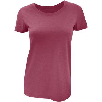 textil Mujer Camisetas manga corta Bella + Canvas BE8413 Granate  Jaspeado